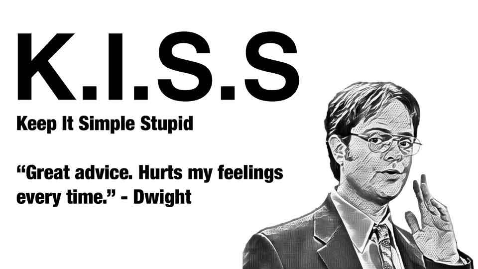 """Illustration for the KISS principle - """"keep it simple stupid"""""""