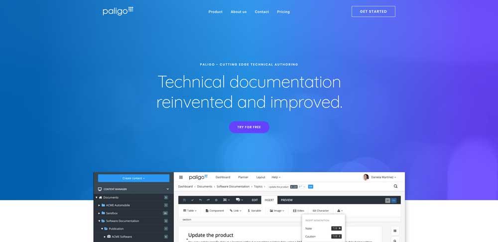 Paligo | The Next Generation of Technical Documentation