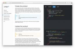 API style output from Paligo software documentation tool