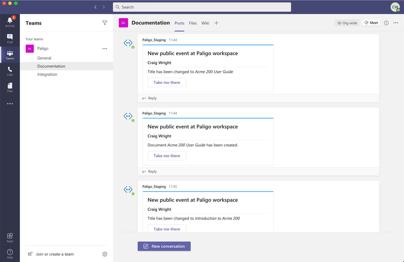 Microsoft teams channel notifications