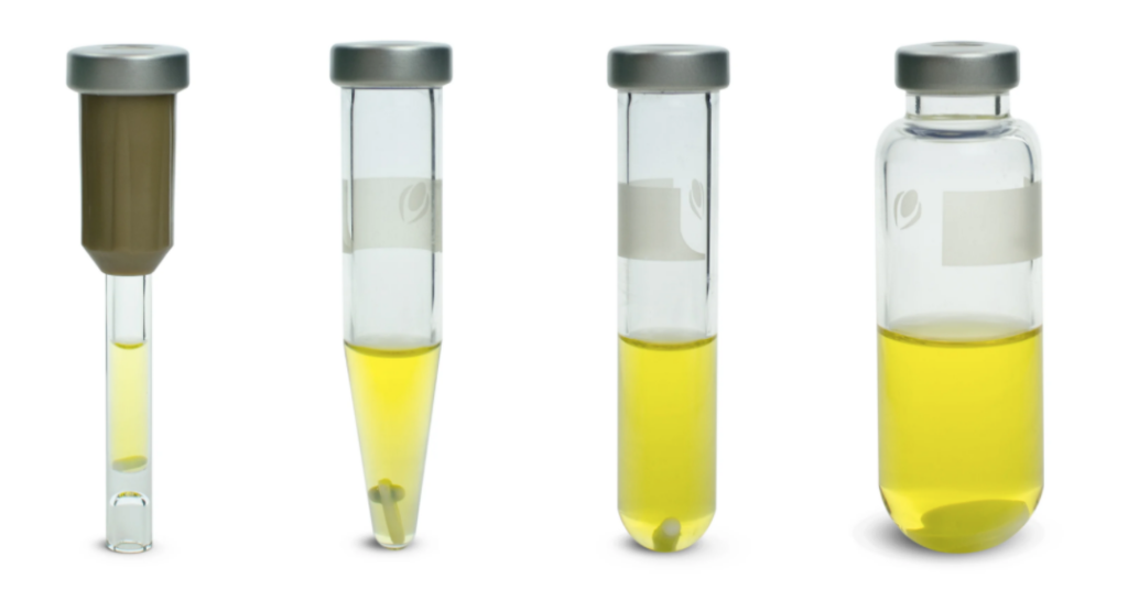 Image of different types of vials as illustration of visuals in technical documentation